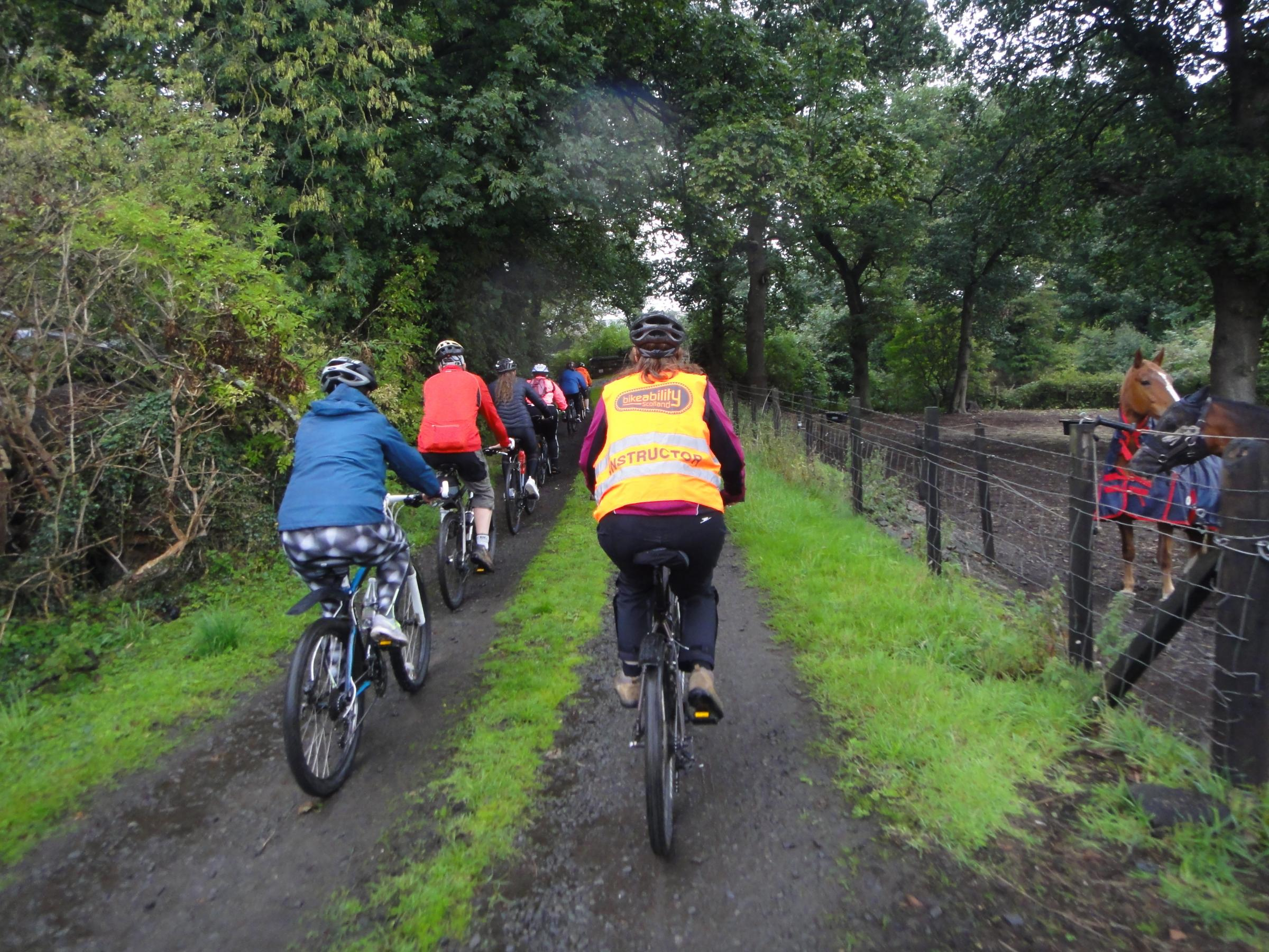 Members of the Clackmannan Development Trust took on a cycling session
