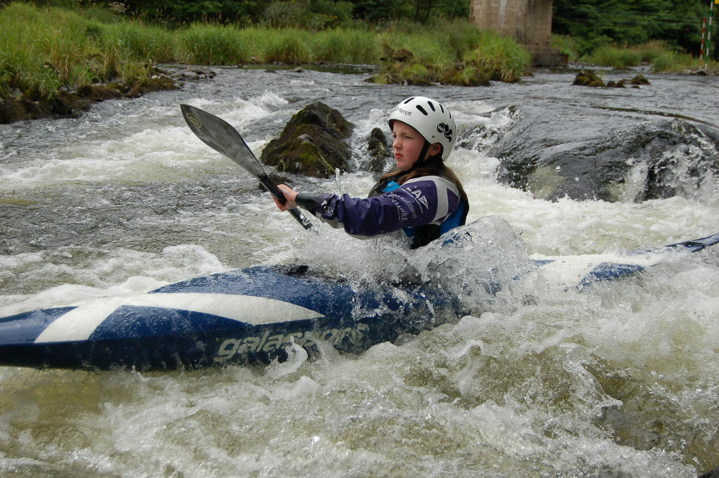Olivia Wears became Scottish campion in slalom kayaking this summer
