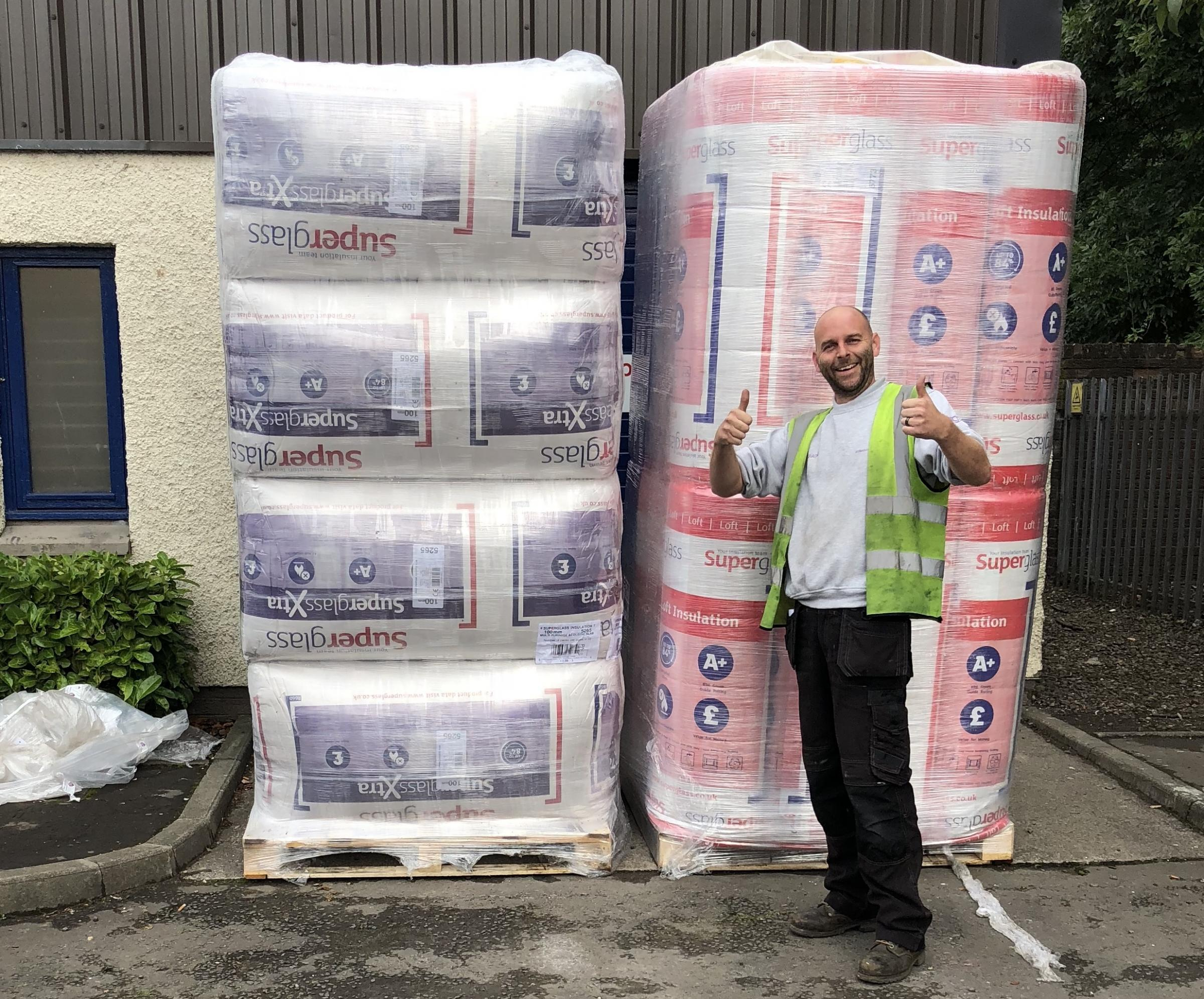 Superglass donated £665 worth of insulation