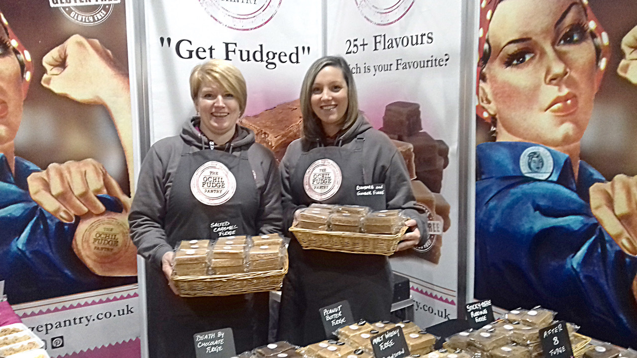 Pictured are Helen Clark and Amy Craw at the BBC Good Food Show
