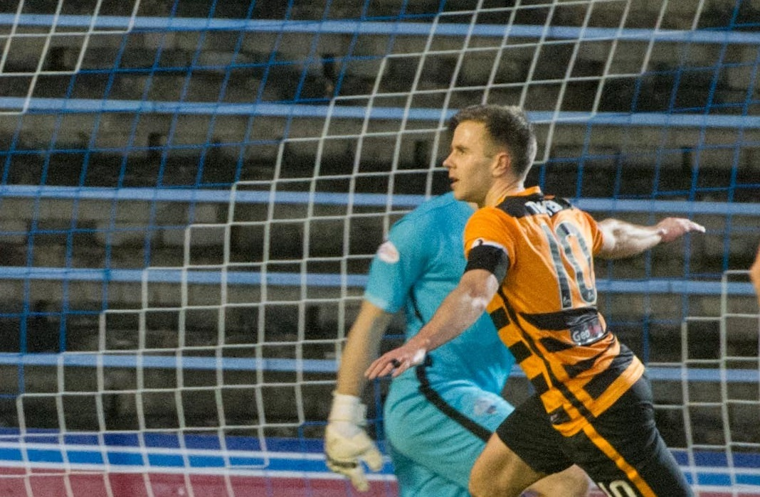 MORE TO COME: Alan Trouten grabbed his first league goal for Alloa in the victory over Morton. Picture by Alex Craig