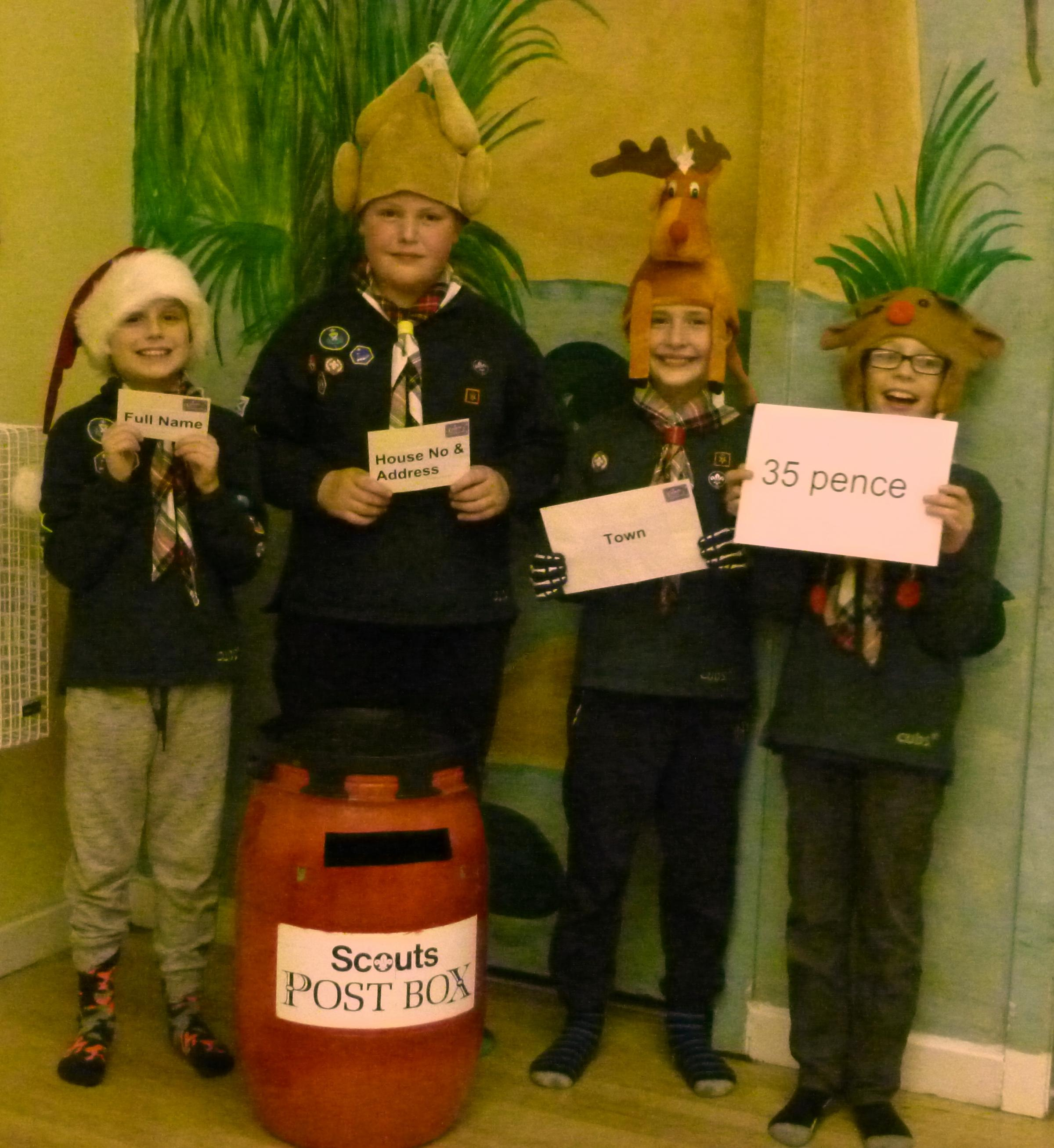 LITTLE HELPERS: The Wee County Scouts will be out and about delivering the Christmas post again this year.
