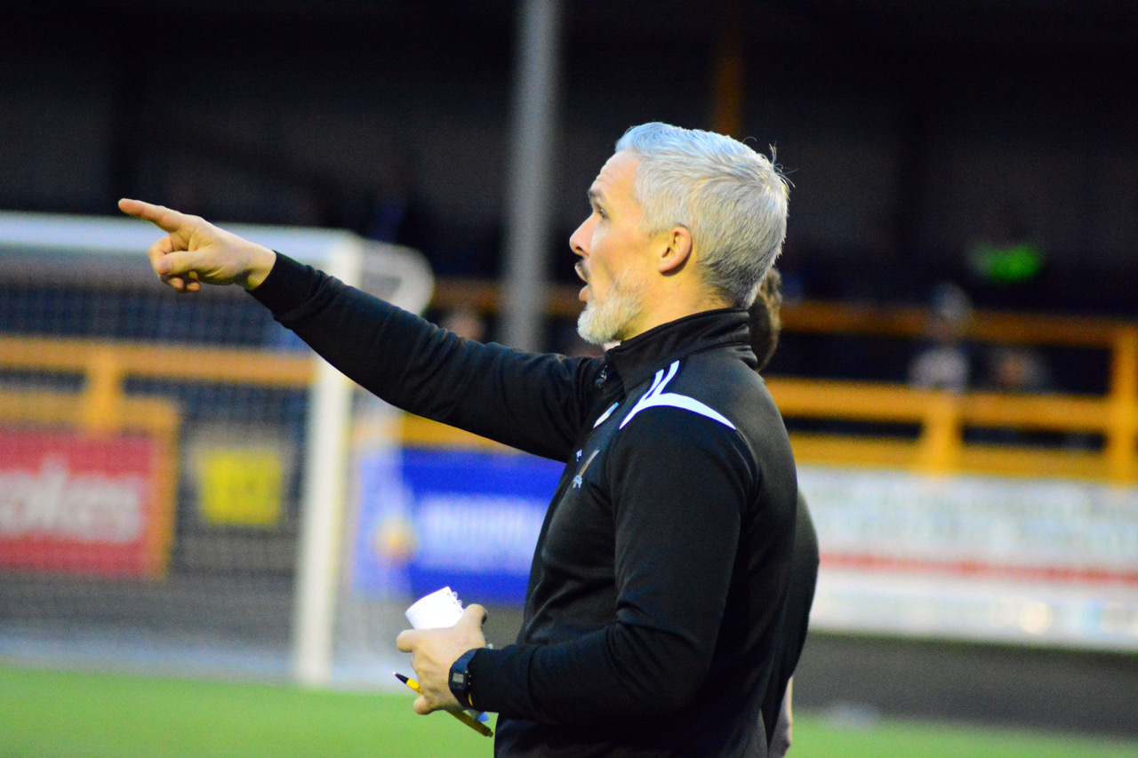 WRATH: Jim Goodwin admits he was an angry man at half time, before his side came back to win the game. Pic by Jan van der Merwe