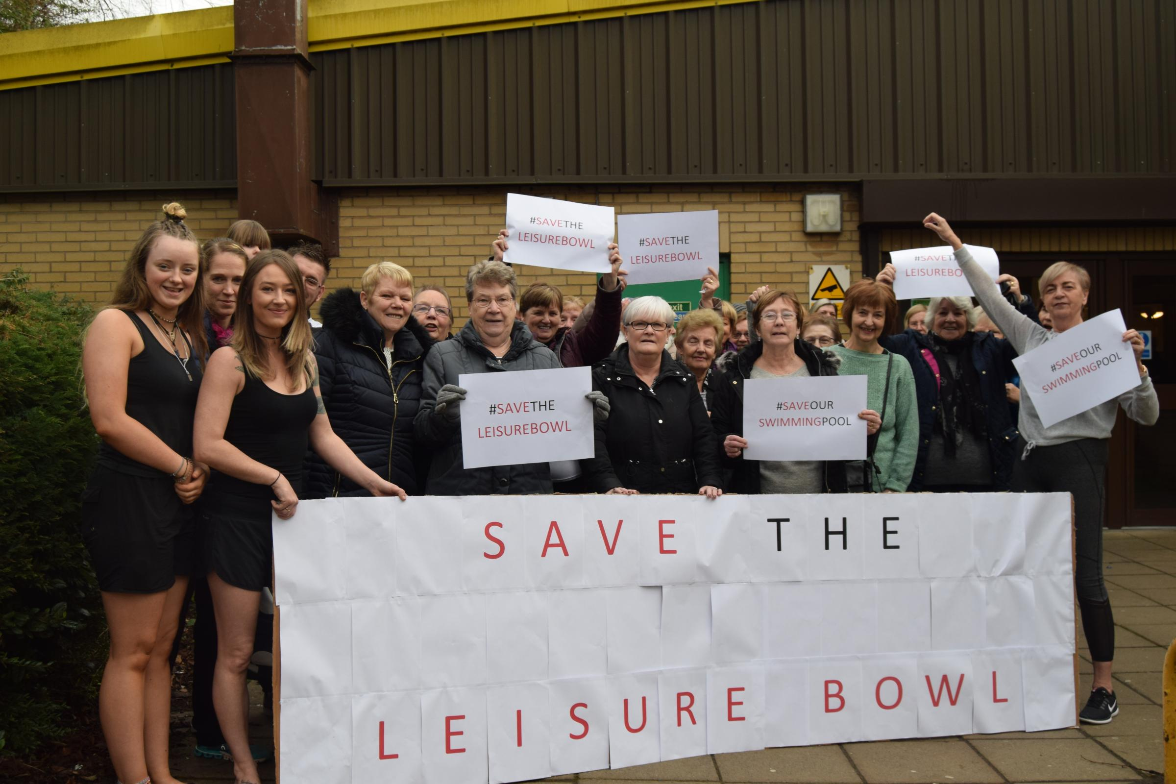 SAVE OUR LEISURE BOWL: Customers and staff take a stand against proposed cuts
