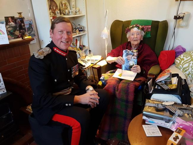 Mrs Elspeth Campbell and the Lord Lieutenant of Clackmannanshire, Lt. Col. Johnny Stewart