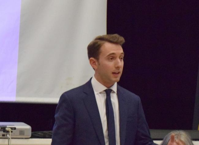 Luke Graham during a hustings event at Alloa Town Hall