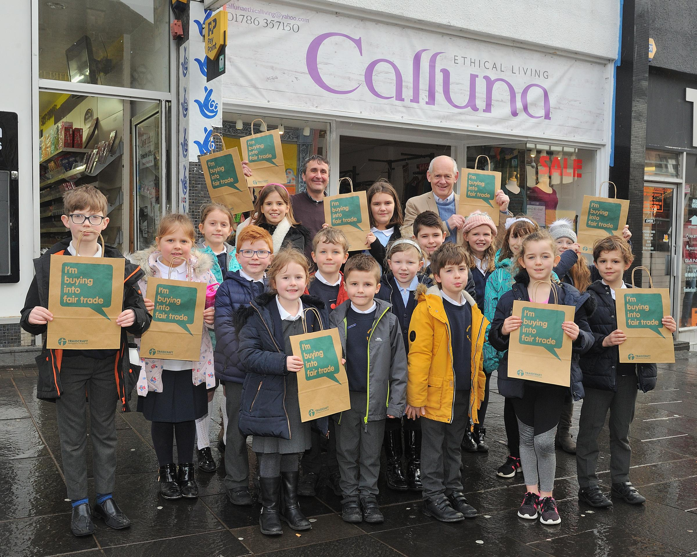 Riverside PS pupils help launch Fairtrade Fortnight