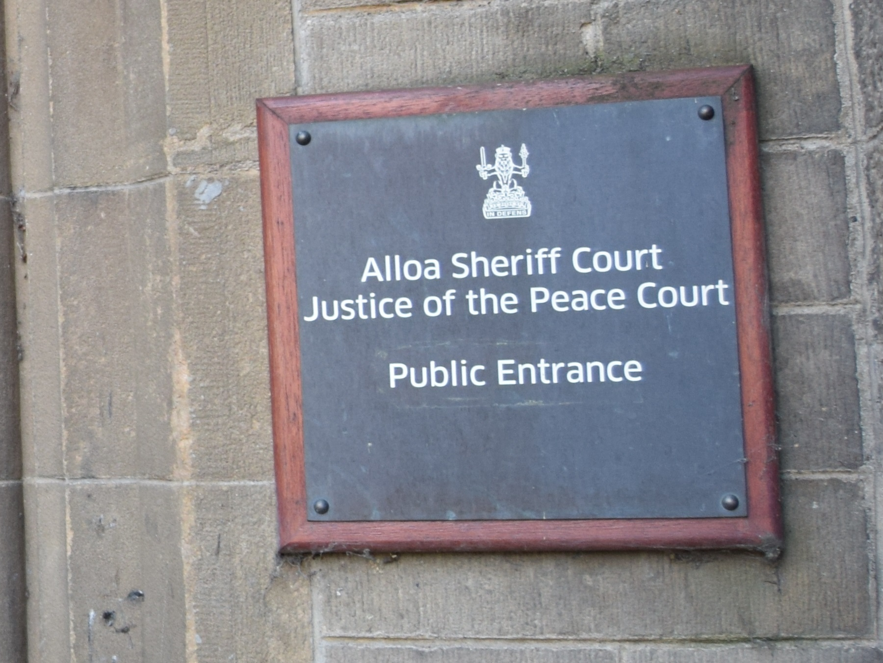 The case was brought before Alloa Sheriff Court last week