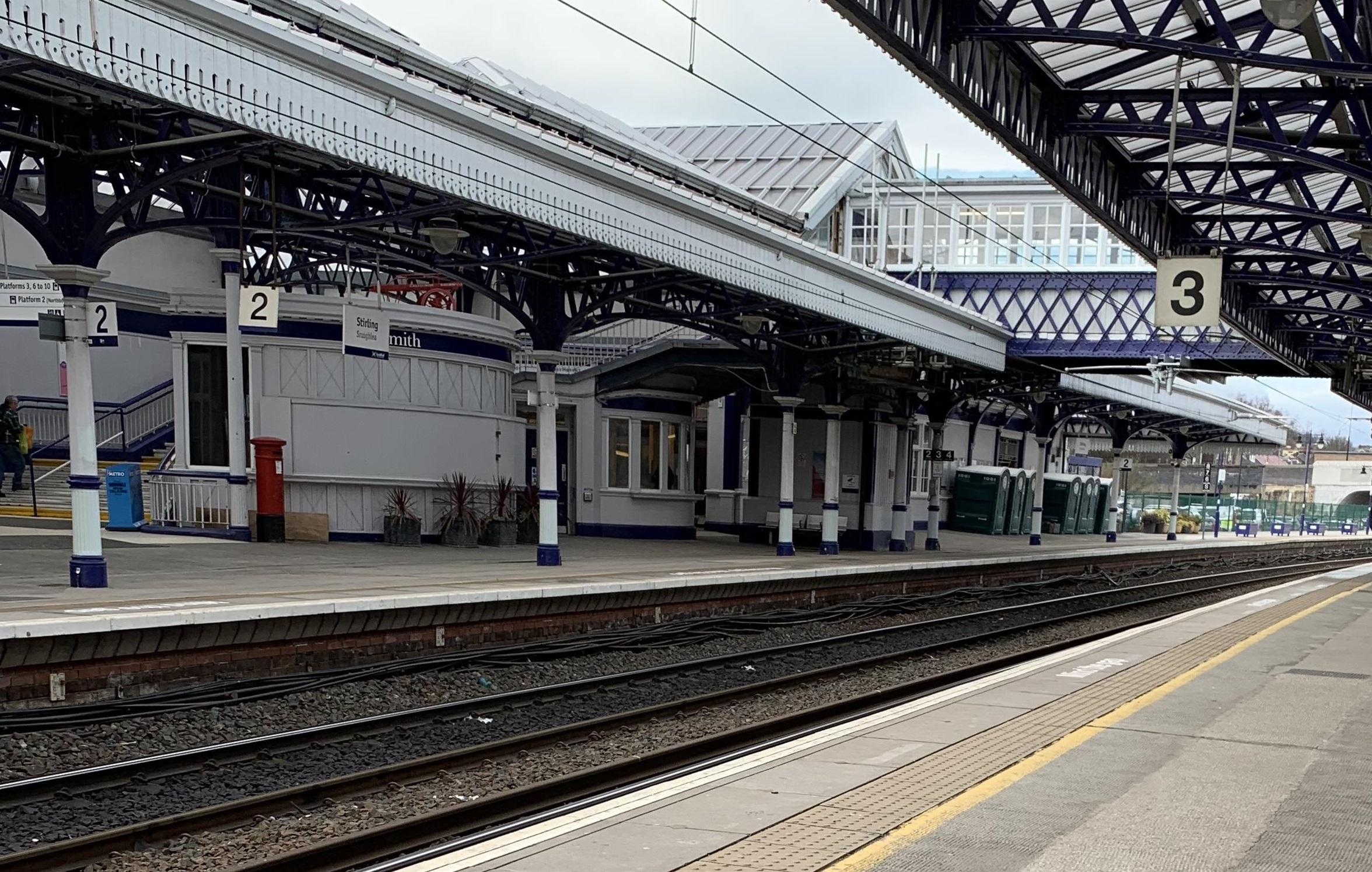 The woman was approached on the train and followed as she left at Stirling Railway Station