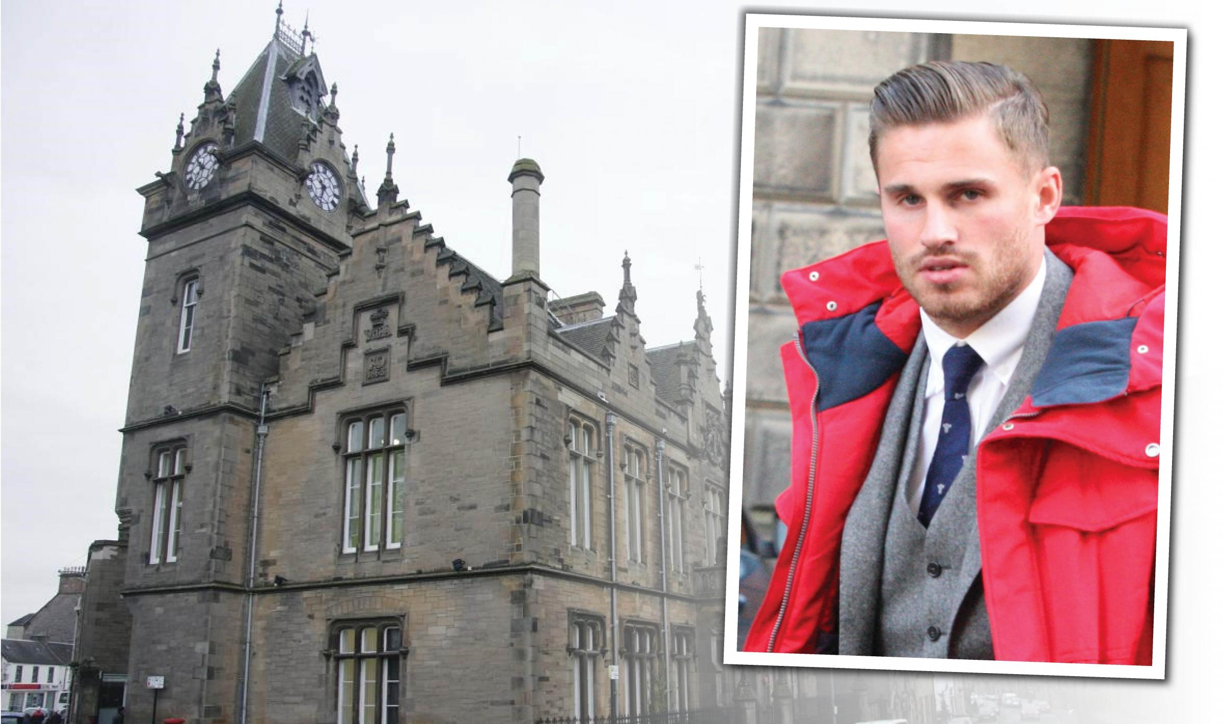 David Goodwillie was declared bankrupt at Alloa Sheriff Court last week