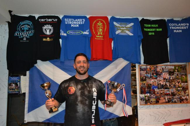 Tullibody strongman Chris Beetham