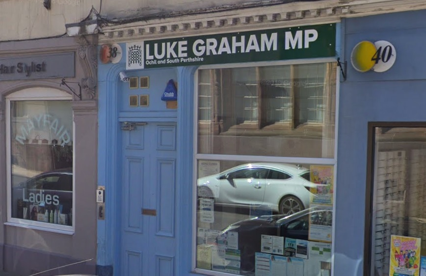 OUT OF LINE: The accused was abusive when he attended the MP's office in Alloa